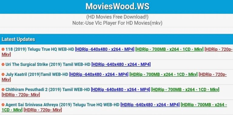 Movie Wood 2020: Download Movieswood Telugu,